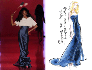 Fashion Week Luxe Redux: Red, White & B